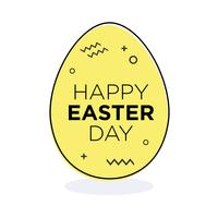 Huevo de pascua amarillo.