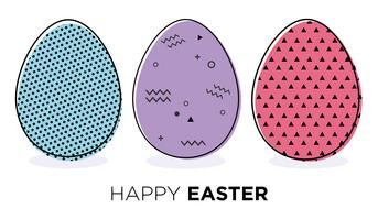 Easter eggs.  vector