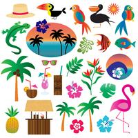 clipart tropical vecteur