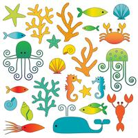 clipart de vida do mar