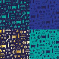 blue and gold Passover background patterns