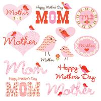mothers day clipart with birds