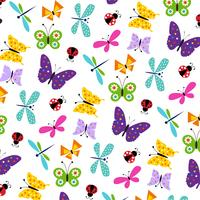vlinder lieveheersbeestje patroon