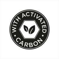 Whit Activated Carbon icon. vector
