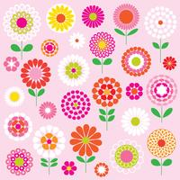 mod vector flowers clipart graphics