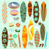 Clipart tavola da surf