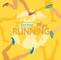 Maratón de verano corriendo.