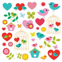 bird valentine clipart vector