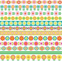 mod flower border patterns
