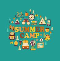 Summer Camp-thema.