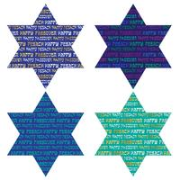 typography patterns on jewish stars
