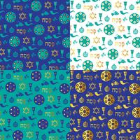 blue gold Passover background patterns