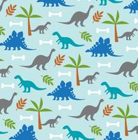 dinosaur and palm tree background pattern
