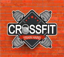 Crossfit-Emblem im Retro-Stil.