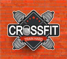 Emblema de crossfit estilo retrô.
