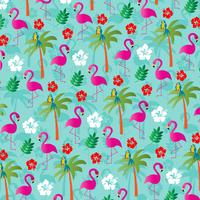 motif de fond flamant tropical