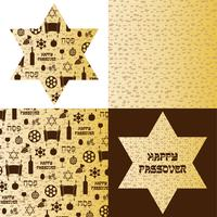 Passover pattern on matzoh background