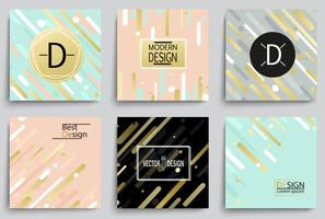 Set of elegant banner templates