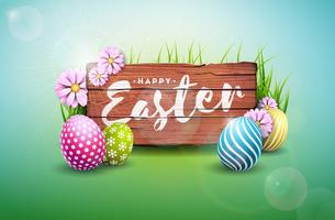 Happy Easter Holiday Illustration