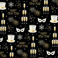 new years eve background pattern on black