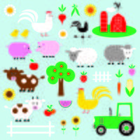 farm clipart vector