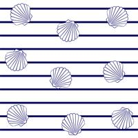 Clams on marine stripes.
