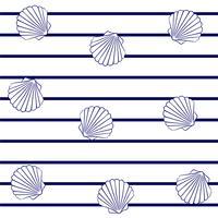Almejas en rayas marinas.