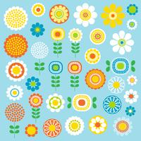 mod flowers graphic clipart