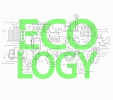 Line style concept of ecology. vector