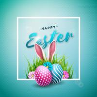 Happy Easter Holiday Illustration  vector