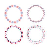 red white blue circle frames