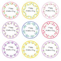 mothers day circle frames	 vector