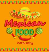 Mexicaans eten flyer met traditionele pittige.