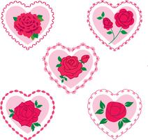 rose valentine hearts