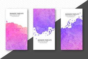 Colorful soft watercolor template banner