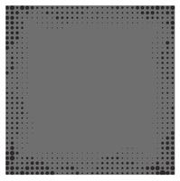 Gray gradient frame background with halftone dots.  vector