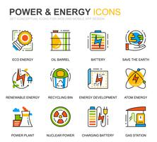 Simple Set Power Industry and Energy Line Icons for Website and Mobile Apps