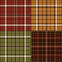 Plaid de couleurs de Thanksgiving