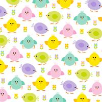 pastel chicks Easter pattern