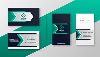 modern turquoise business card template set