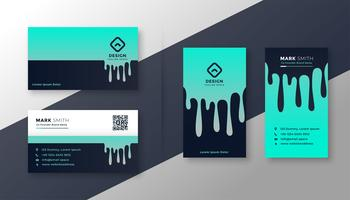 creative business card vertical and horizontal set