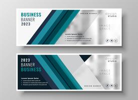 professional blue presentation business banner
