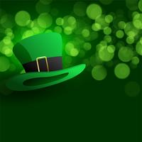 cappello di leprechaun su sfondo verde