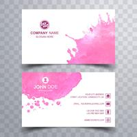 Abstract Business card colorful watercolor design