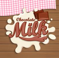 Milk chocolate splash.