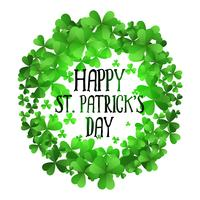 st patricks day clover leaves frame background