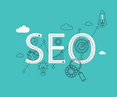 Infographic of SEO. vector