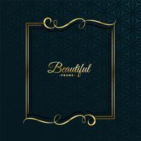 guld blommig attraktiv ram design