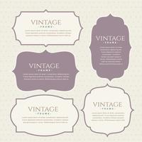 klassisk vintage etiketter set design