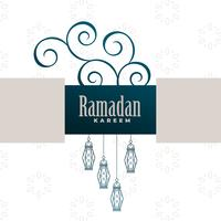 decorative ramadan kareem background design